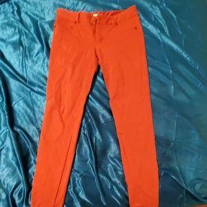 Orange jeggings